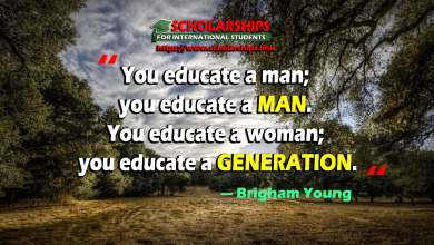 You educate a man; you educate a man. You educate a woman; you educate a generation
