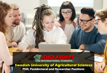 PhD, Postdoctoral and Researcher Positions at the Swedish University of Agricultural Sciences