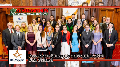 Freemasons University Scholarships 2021, New Zealand to study abroad